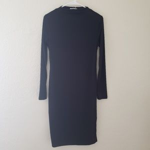 NWOT Long Sleeve Knit Midi Dress Prologue Black XS